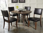Cameron 5-Piece Round Wood Base Dining Set w/Parson Chairs - THD3956