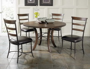 Cameron 5-Piece Round Wood Base Dining Set w/Ladder Back Chairs - THD3958