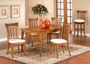 Bayberry 5-Piece Rectangle Dining Set - Oak - THD3796