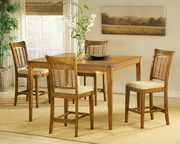 Bayberry Oak 5-Piece Counter Height Dining - THD3800