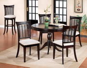 Bayberry 5-Piece Round Dining Set - Dark Cherry - THD3814