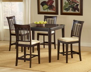 Bayberry 5-Piece Counter Height Dining Set - Dark Cherry - THD3816