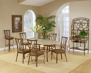 Brookside 7-Piece Rectangle Dining Set w/Diamond Back Chairs - THD3854
