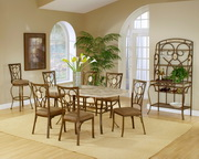 Brookside 5-Piece Rectangle Dining Set w/Oval Back Chairs - THD3856