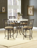 Brookside 5-Piece Counter Height Dining w/Brookside Diamond Stools - THD3866