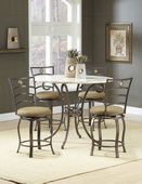 Brookside 5-Piece Counter Height Dining w/marina Stools - THD3870
