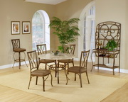 Brookside 5-Piece Round Dining Set w/Diamond Back Chairs - THD3874