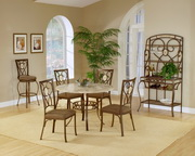 Brookside 5-Piece Round Dining Set w/Oval Back Chairs - THD3876