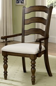Pine Island Ladder Back Arm Chair - Set of 2 - THD4466