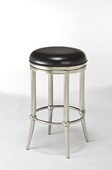 26in Dull Nickel Backless Counter Stool - THD2968