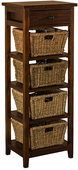 Tuscan Retreat 4 Basket 1 Drawer Open Side Stand - THD4644