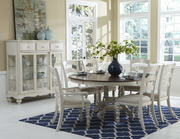 Pine Island 7PC Round Dining Set with Ladder Back Chairs - THD4514