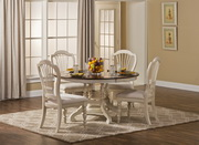 Pine Island 5PC Round Dining Set with Wheat Back Chairs - THD4516