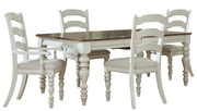Pine Island 5 PC Dining Set - with Ladder Back Chairs - THD4520