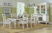 Pine Island 7 PC Dining Set - with Ladder Back Chairs - THD4522