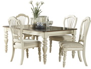 Pine Island 5 PC Dining Set - with Wheat Back Chairs - THD4524