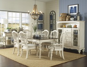 Pine Island 7 PC Dining Set - with Wheat Back Chairs - THD4526