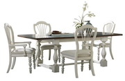 Pine Island 5 PC Trestle Dining Set with Wheat Back Chairs  - THD4532