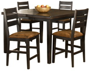Killarney 5-Piece Counter Height Dining with Ladder Back Stools - THD4150