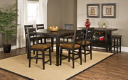 Killarney 7-Piece Counter Height Dining with Ladder Back Stools - THD4152