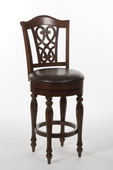Hamilton Park Swivel Counter Stool with Scroll Back - Completely KD - THD3532