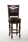 Hamilton Park Swivel Bar Stool with Upholstered Back - Completely KD - THD3538