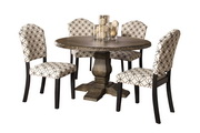 Lorient 5-Piece Round Dining Set with Parsons Chairs - THD4220