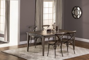 Lorient 5-Piece Rectangle Dining Set with X Back Dining Chair - THD4222
