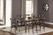 Lorient 7-Piece Rectangle Dining Set with X Back Dining Chair - THD4224