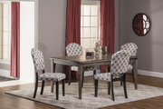 Lorient 5-Piece Rectangle Dining Set with Parsons Dining Chair - THD4228