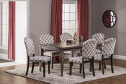 Lorient 7-Piece Rectangle Dining Set with Parsons Dining Chair - THD4230