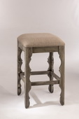 Carrara Backless Counter Stool Graywash Finish - THD3682