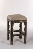 Carrara Backless Bar Stool Blackwash Finish - THD3684