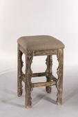 Carrara Backless Bar Stool Whitewash Finish - THD3686