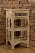 Alena Two (2) Shelf Stand - Distressed White Finish - THD3728