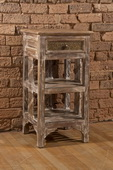 Alena Two (2) Shelf Stand - Distressed Sandy Beige Finish - THD3730