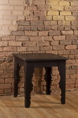 Keegan End Table - Distressed Black Finish - THD4134