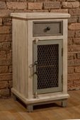 LaRose One (1) Drawer / One (1) Door Cabinet with Chicken Wire - THD4202