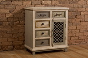 LaRose Five (5) Drawer / One (1) Door Cabinet with Chicken Wire - THD4204