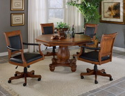 Kingston 5-Piece Game Set w/Leather Back Game Chair - THD4164
