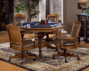 Nassau 5-Piece Game Set w/Leather Back Game Chair - THD4340