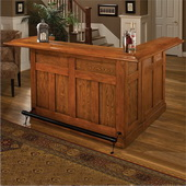 Hillsdale Classic Oak Large Bar with Side Bar - THD3336