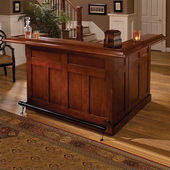 Aqua Pear Lancaster Cherry Large Bar with Side Bar by Hillsdale - THD3330