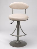 24-30in Venus Swivel Bar Stool With Fawn Suede - THD2185