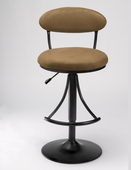 24-30in Venus Swivel Bar Stool With Bear Suede - THD2188
