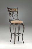 30in Pompei Swivel Bar Stool Back Only - THD2443
