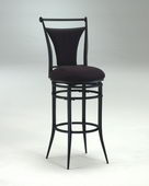 30in Cierra Swivel Barstool - Black Fabric - THD2482