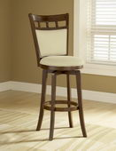30in Jefferson Swivel Bar Stool With Cushion Back - THD2761