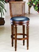 31in Dalton Cane Back Bar Stool With Leather Seat - THD2809