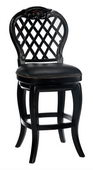 30in Braxton Wood Bar Stool With Black Leather Seat - THD2815